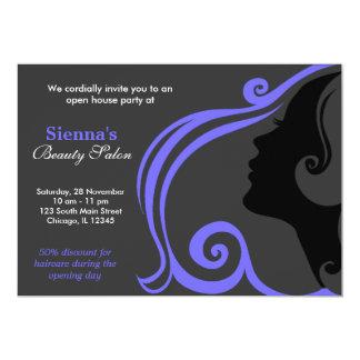 Hairdresser (Light Slate Blue) Invitations