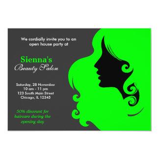 Hairdresser (Lime) Custom Invitation