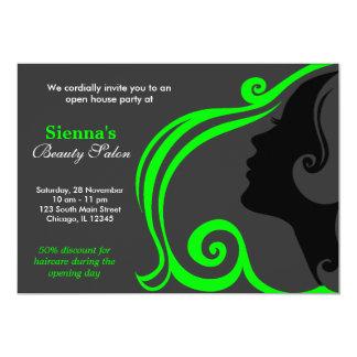 Hairdresser (Lime) Custom Invites