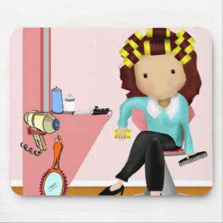 Hairdresser Mouse Mat Mouse Pad
