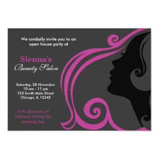 Hairdresser (Plum) Personalized Invite