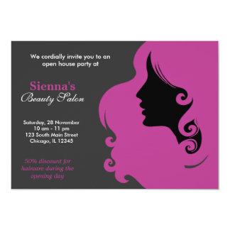 Hairdresser (Plum) Custom Invite