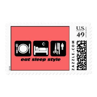 hairdresser postage stamp