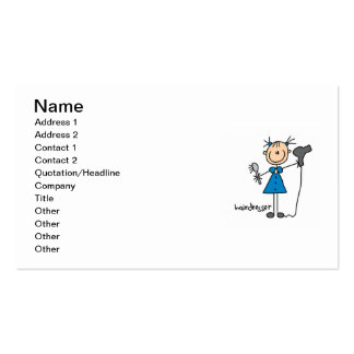 Hairdresser Stick Figure Double-Sided Standard Business Cards (Pack Of 100)