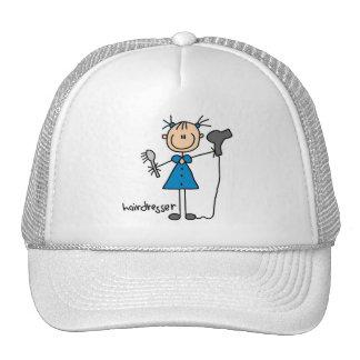 Hairdresser Stick Figure Trucker Hat