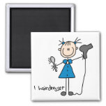 Hairdresser Stick Figure Magnet Refrigerator Magnets