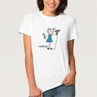 Hairdresser Stick Figure Shirt