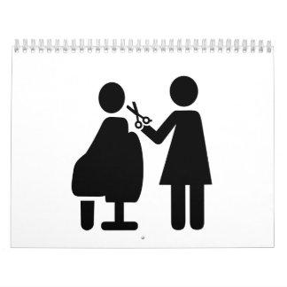 Hairdresser symbol calendar