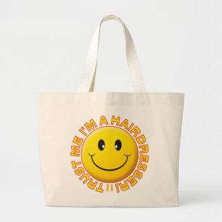 Hairdresser Trust Me Smiley Large Tote Bag