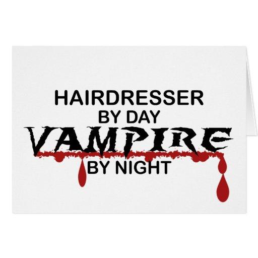 Hairdresser Vampire by Night Greeting Card