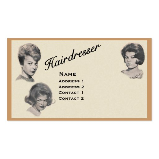 HAIRDRESSER - VERY PROFESSIONAL PROFILE CARD 1 BUSINESS CARD