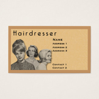 HAIRDRESSER - VERY PROFESSIONAL PROFILE CARD (2B)
