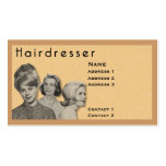 HAIRDRESSER - VERY PROFESSIONAL PROFILE CARD (2B) Double-Sided STANDARD BUSINESS CARDS (Pack OF 100)