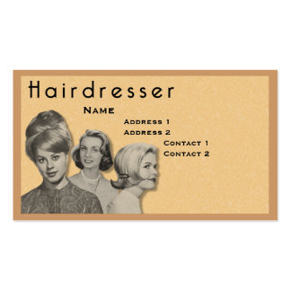 HAIRDRESSER - VERY PROFESSIONAL PROFILE CARD (2C) BUSINESS CARDS