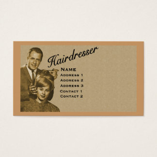 HAIRDRESSER - VERY PROFESSIONAL PROFILE CARD (3B)