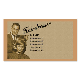 HAIRDRESSER - VERY PROFESSIONAL PROFILE CARD (3B) BUSINESS CARD