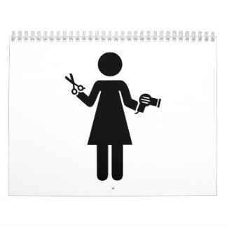 Hairdresser woman calendar