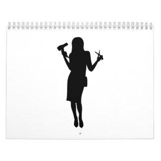 Hairdresser woman girl calendar