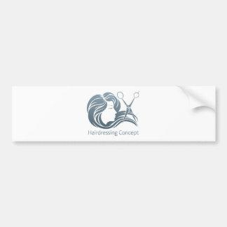 Hairdresser Woman Scissor Concept Bumper Sticker