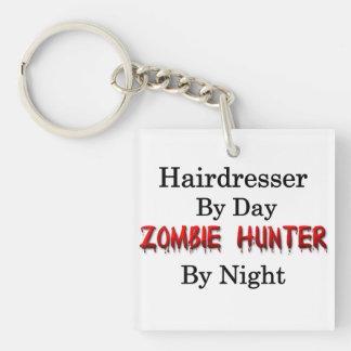 Hairdresser/Zombie Hunter Single-Sided Square Acrylic Keychain