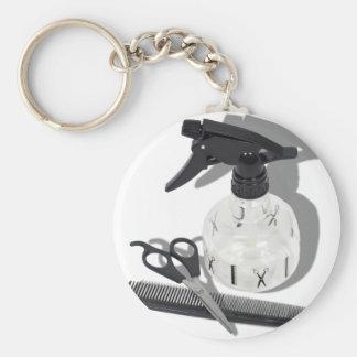 HairdresserItems060910Shadows Basic Round Button Keychain