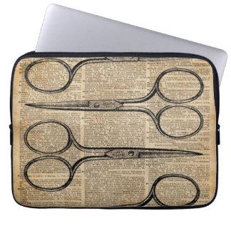 Hairdresser's Scissors Vintage Illustration Computer Sleeve