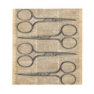 Hairdresser's Scissors Vintage Illustration Notepad