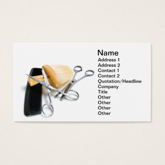 Hairdresser's tool business card
