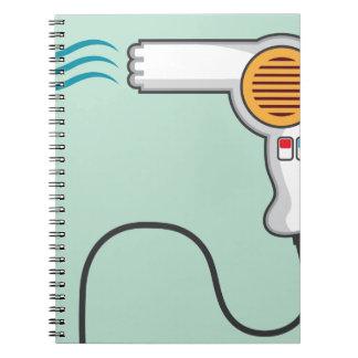 Hairdryer Spiral Notebook