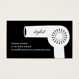 Hairdryer Stylist Card B&W