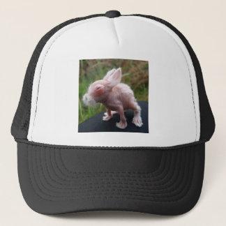 Hairless bunny trucker hat