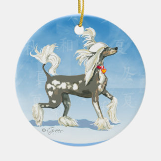 Hairless Chinese Crested Christmas Ornament