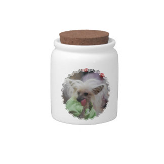 Hairless Chinese Crested Dog Candy Jar