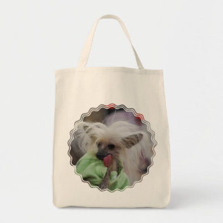 Hairless Chinese Crested Dog Grocery Tote Bag
