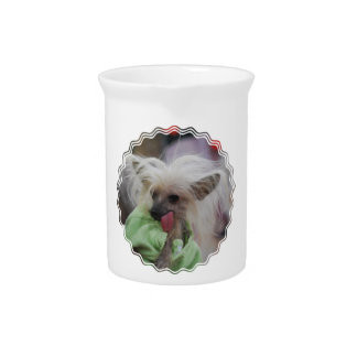 Hairless Chinese Crested Dog Pitcher