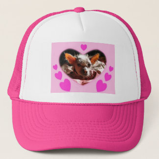 hairless dog binder trucker hat