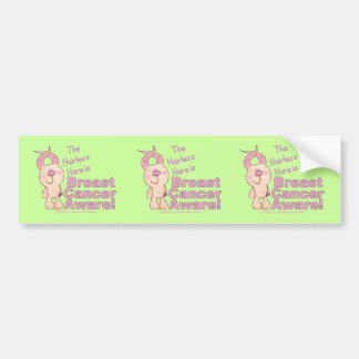 Hairless Hare is Breast Cancer Aware Bumper Stickers