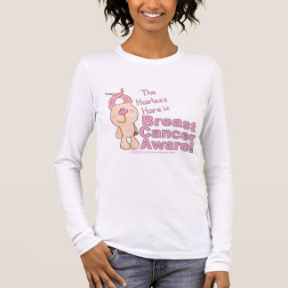 Hairless Hare is Breast Cancer Aware Long Sleeve T-Shirt