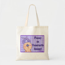 Hairless Hare Phooey on Pancreatic Cancer Tote Bag