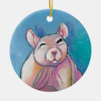 Hairless rat art fun sweet adorable pet portrait ornament