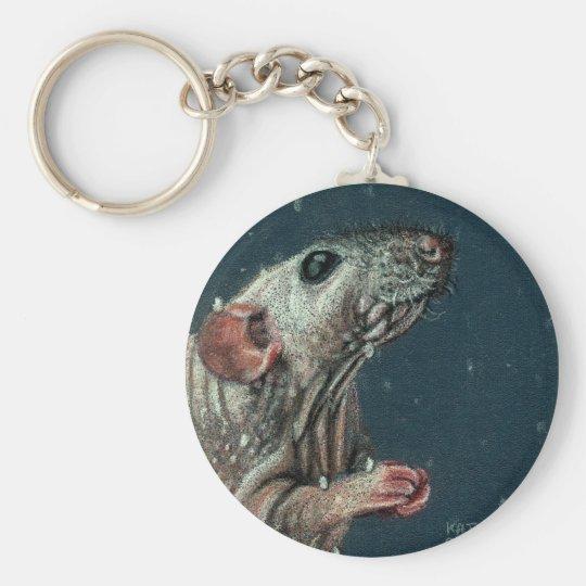 Hairless Rat Keychain