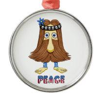 hairPeace  (The Hollyweirdos Collection) Metal Ornament