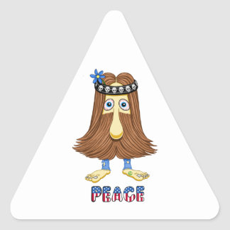 hairPeace  (The Hollyweirdos Collection) Triangle Sticker