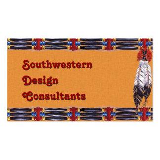 Hairpipe al sudoeste y plumas tarjetas de visita