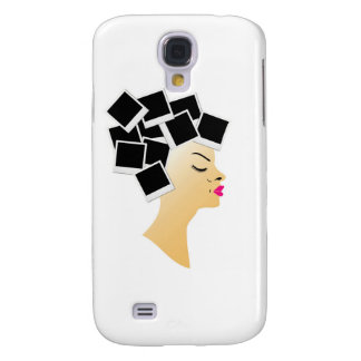 hairstyle with blank polaroids samsung galaxy s4 cover