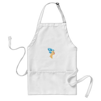 Hairstyle with droplets adult apron