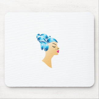 Hairstyle with droplets mouse pad