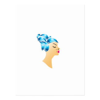 Hairstyle with droplets postcard