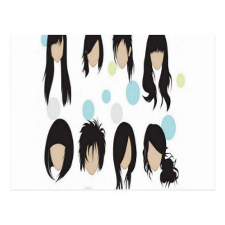 Hairstyles design postcard