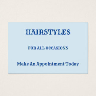 Hairstyles  For All Occasions Business Card